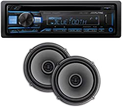 """$149 » Alpine CDE-172BT Bluetooth Single Din Receiver with Quinn 6.5"""" Dual Coaxial Car Speakers Pair Bundle. Bluetooth and Smart ..."""