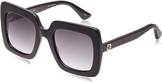 Gucci Square Sunglasses for Women - Grey Lens, GG0328S-001-53