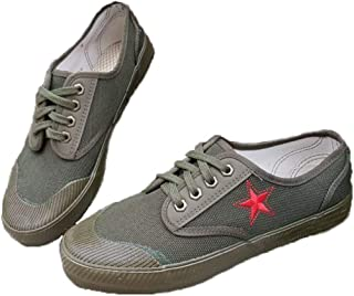 JBHURF Liberation Shoes Green Rubber Shoes Non-Slip wear-Resistant Labor Insurance Shoes Dry Farm Shoes can be Used as Military Training and Other Outdoor Activities