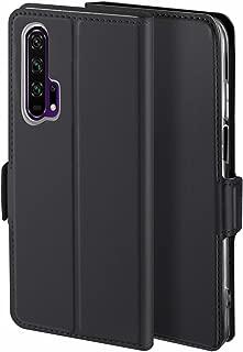 Libra_J Case for Honor 20 Pro Mobile Phone case, [Stand Function] [Card Slot] [Magnet] [Anti-Slip] Premium Leather Flip Case Cover for Honor 20 Pro Mobile Phone case (Black)