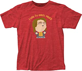 South Park Trees Fitted Jersey tee (Medium) Heather Red