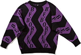 LIUFULING Male and Female Lovers with Autumn Loose Round Neck Print Pullover Sweater (Color : Purple, Size : XL)
