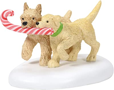 Department 56 Village Collection Accessories Peppermint Pups Figurine, 1.375 Inch, Multicolor