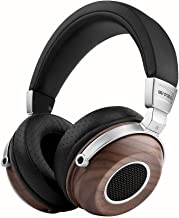 SIVGA SV004 Hi-Fi Wood Over-Ear Stereo Open Back Wired Headphones, Built-in Mic, Soft Earmuffs with Carrying Case (Walnut)