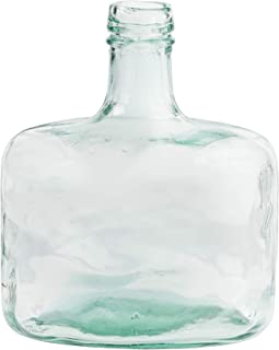Mud Pie Whiskey Bottle Clear Glass Vase, Blue