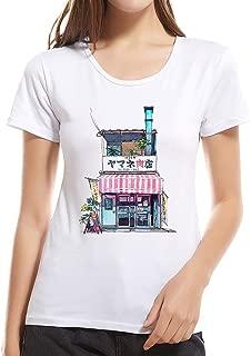 Summerout Womens Tops Girls Comfort Cool Crewneck Undershirt Loose Casual Shirt