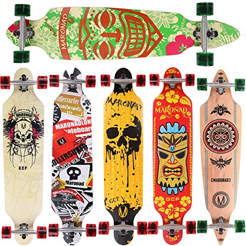 MARONAD Longboard ARUBA drop through Race Cruiser ABEC 11 Skateboard