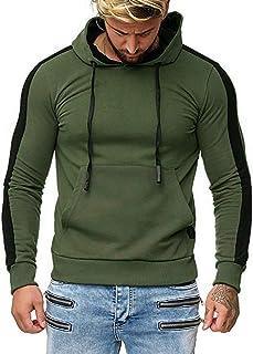 VANVENE Felpa con Cappuccio Uomo Manica Lunga Hoodie Hooded Pullover Sweatshirt con Tasche Tempo Libero Regalo