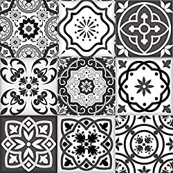 Tile Stickers 24 PC Set Authentic Traditional Talavera Tiles Stickers Bathroom & Kitchen Tile Decals Easy to Apply Just Peel and Stick Home Decor 6x6 Inch (stickers set)