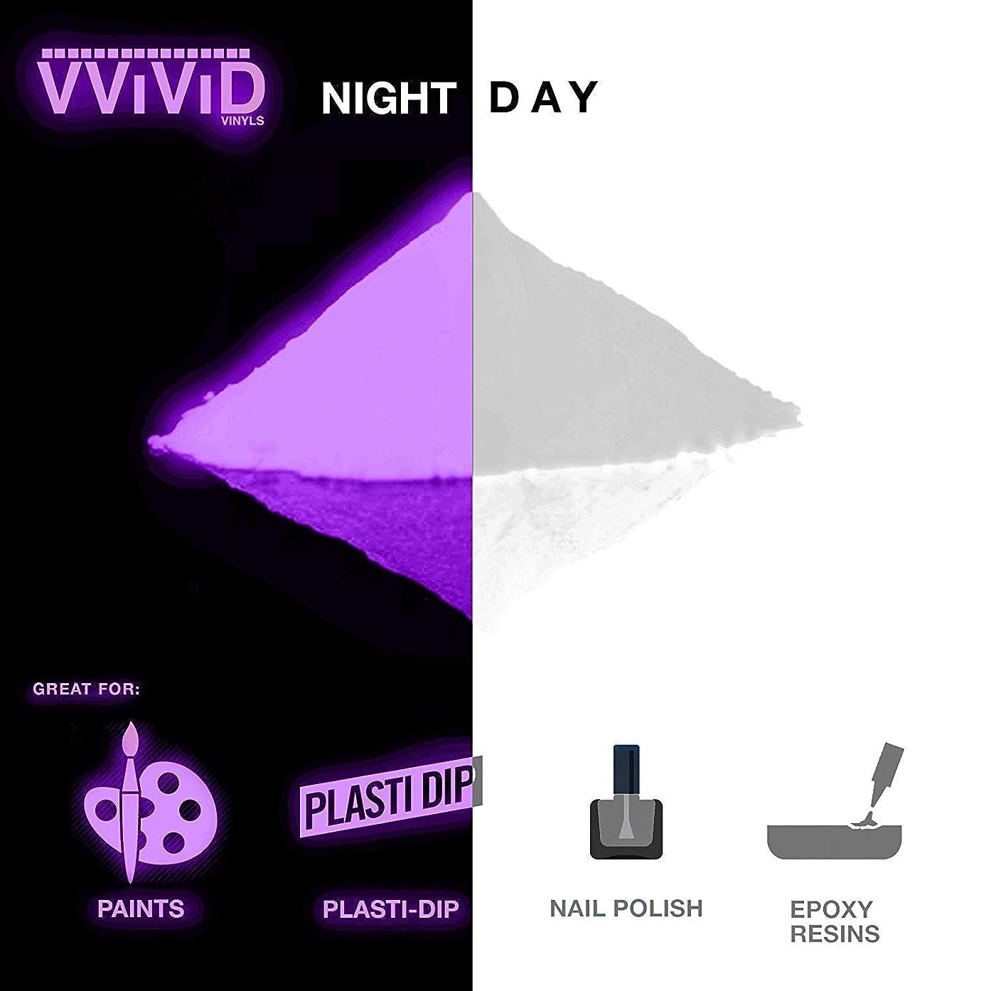 VViViD Purple Glow in The Dark Fine Pigment Powder 30g/1oz Packet (2 Pack)
