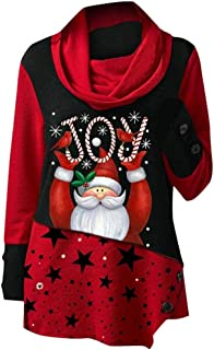 Women Tunic Tops and Blouses Simple Round Neck T-Shirt Sweatshirt, LIM&Shop Long Sleeve Christmas Pullover Hoodies