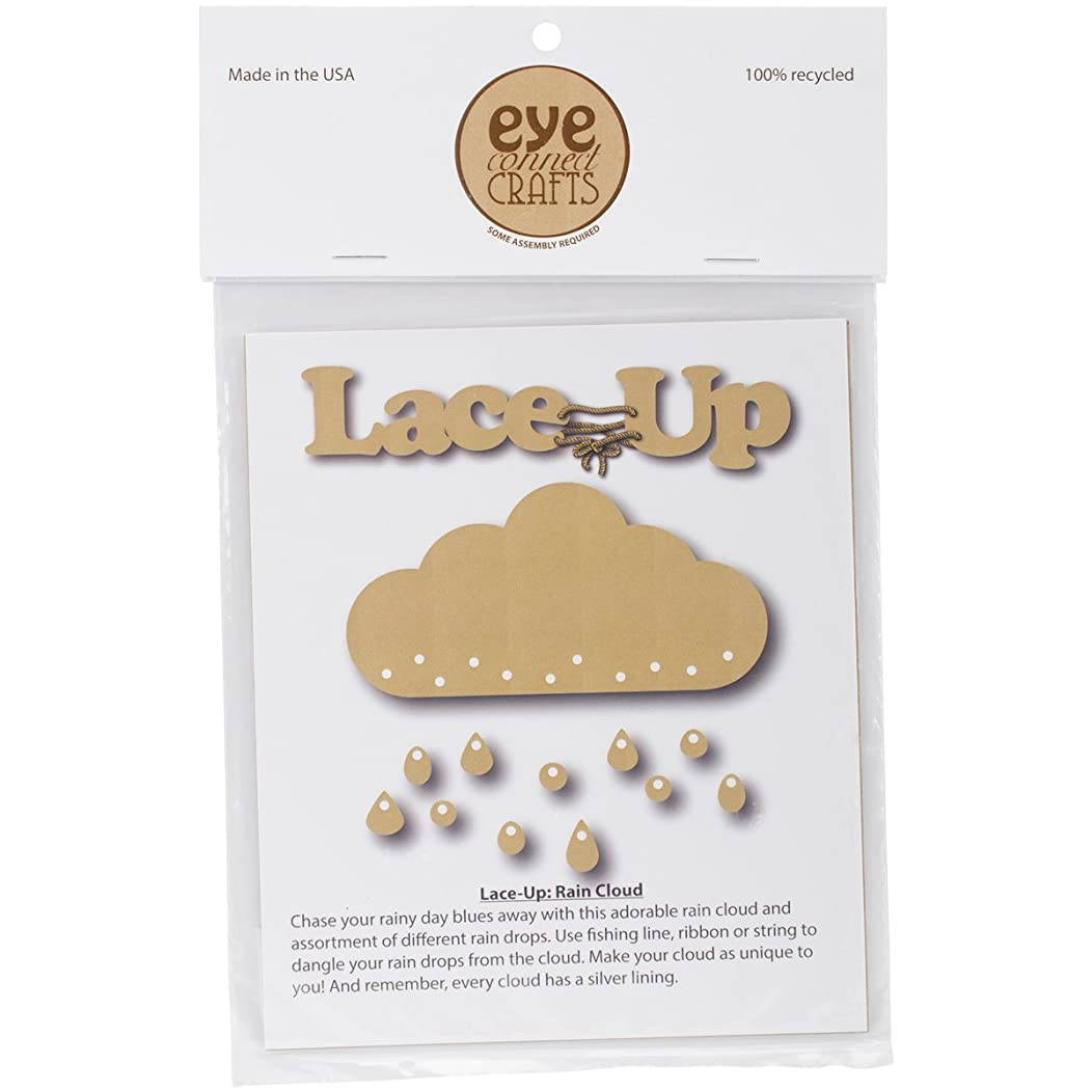 Eyeconnect Crafts Chipboard Lace, Up, Large Rain Cloud, 5.7