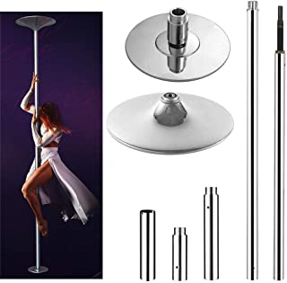 go2buy Dance Pole 45mm Solid Dancing Fitness Portable Pole Static/Spinning Stripper..