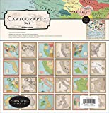 Carta Bella Paper Company Cartography No. 1 Collection Kit paper, red, blue, tan, sepia, yellow