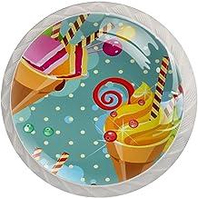 Lade knop Pull handvat 4 stuks Crystal Glass Cabinet lade trekt kast knoppen, ijs