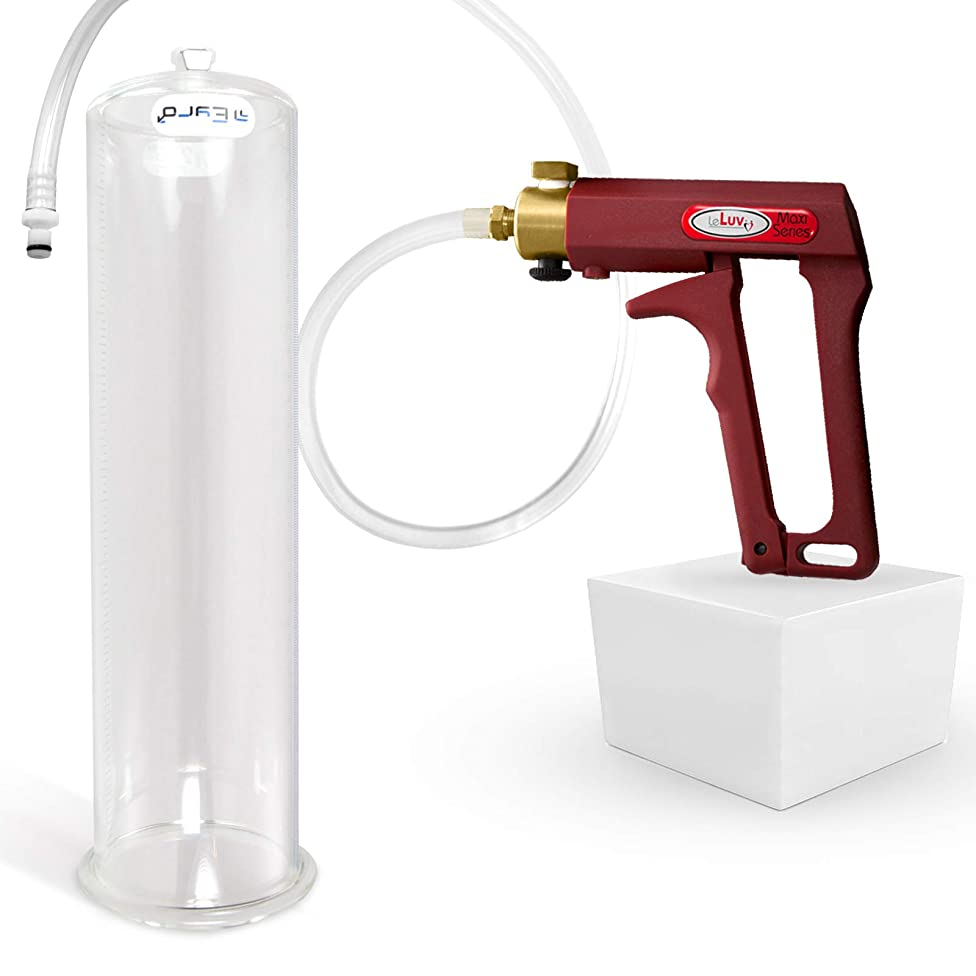 LeLuv Maxi Red Penis Pump for Men 12 Inch Length x 3.50 Inch Cylinder Diameter