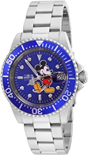 Invicta Men's Disney Limited Edition Automatic-self-Wind Watch with Stainless-Steel Strap, Silver, 20 (Model: 24758