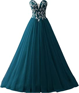Prom Dresses Ball Gown Quinceanera Dress Tulle Lace Prom Dress Strapless