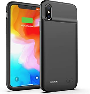 OMEETIE Battery Case for iPhone X/XS, 4100mAh Portable Protective Charging Case, Rechargeable Extended Battery Pack Charger Case Compatible with iPhone X/XS/10 (5.8 inch) (Black)