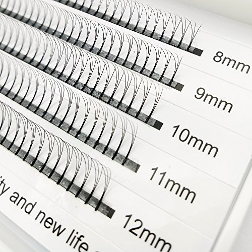 3D False eyelashes Volume Eyelashes Extensions Russian Cluster Individual Eyelashes Professional Volume C Curl Lash Extensions 2 Trays (3D&8D)