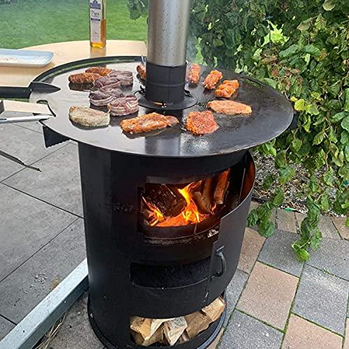 61VVHIbynlS. SL500  - A. Weyck Tools Feuerplatte 80cm 8mm für Feuertonnen Grillplatte Plancha Grillring BBQ- Angebot mit Burning Bernd Flambiersauce #98
