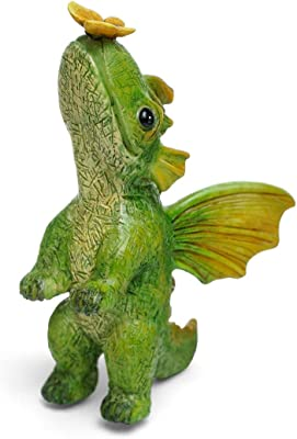 Marshall Home and Garden Butterfly Friends Magical Dragon Green 4 x 2 Resin Stone Collectible Figurine