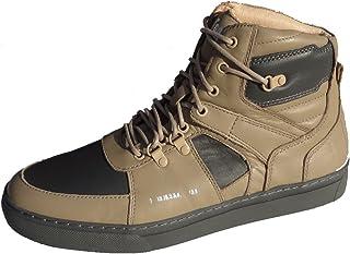 Godspeed Basketball Men's Designer Leather Sneaker Khaki/Grey Size 7 to 13