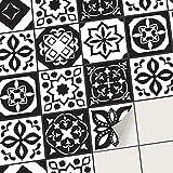 creatisto Autocollant Sticker Carrelage - Feuille adhésif I Carrelage Adhésif mosaique - Revêtement Mural Salle de Bain et Cuisine I Home décoration (20x20 cm I 54 - Pièces)