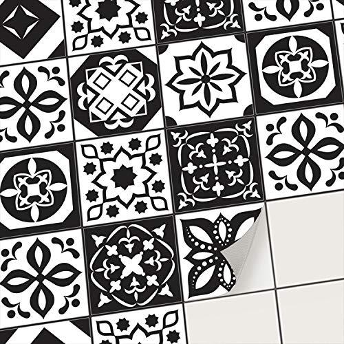 creatisto Mosaikfliesen Fliesenaufkleber Fliesenfolie - Hochwertige Aufkleber Sticker für Fliesen I Klebefliesen Deko Folien für Fliesen Ornament in Bad u. Küche (10x10 cm I 9 -Teilig)
