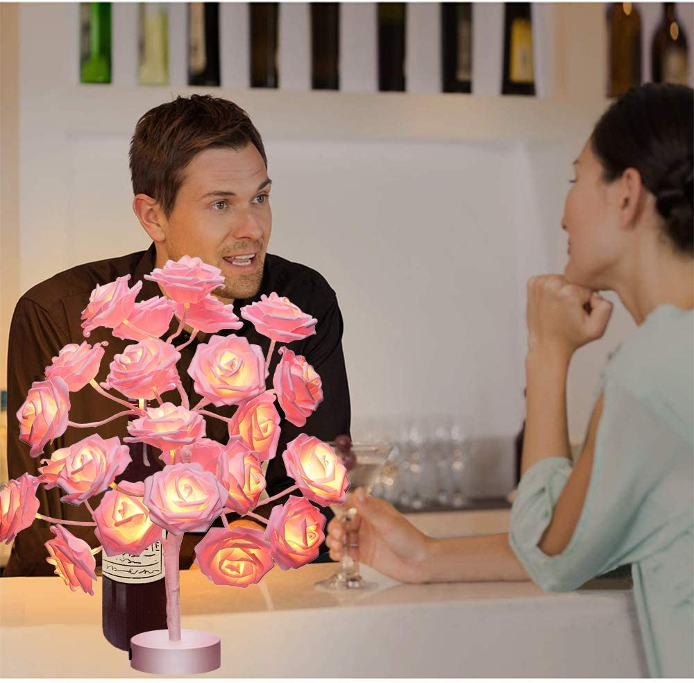Night Light Color Changing Flower Tree Cherry Blossom lamp with Remote Control with Timer Christmas Birthday Gift for Girl Kids Women for Holiday and Party Home Room Decoration(Cherry)/…/…