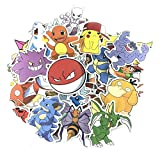 XXCKA Pegatinas Pokemon Water Skateboard Sticker para DIY Scrapbooking 50Pcs / Set