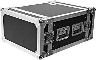 Seismic Audio - SATAC6U - Heavy Duty 6 Space ATA Rack Case - 6U PA DJ Amplifier Flight Road Case - Pro Audio DJ Rack