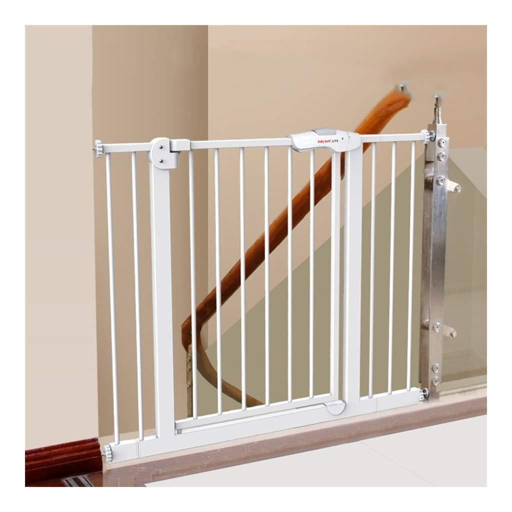 Fácil Columpio & Bloquear Puerta del Bebé Escalera Puerta de Seguridad Ideal para Estándar O Más Amplio Escaleras Se Balancea para Autobloquearse (Size : Width 85-94cm): Amazon.es: Hogar