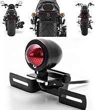 1 unidad color rojo KATUR 12V de luz de circulación para freno trasero con soporte para placa de motocicleta color negro para Harley Bobber, Chopper Cruiser, Dyna Glide, Sportster
