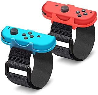 """[2in1 Pack] Wrist Strap of Joy-Con for """"Just Dance 2020/2019/2018/2017"""", Cochanvie Adjustable Elastic Wrist Band Cuff for ..."""