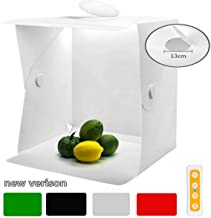 Zoutt Portable Photo Studio 16x16 Inch Photography Table Top Light Box 3 Light Colours Adjustable LED Strip 2x70 LED Foldable Shooting Tent 4 Backdrops(White/Black/Red/Green)