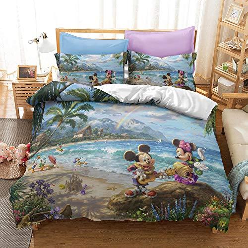 WTWE Juego de cama 3D de 3 piezas, diseño de anime, ropa de cama 3D, microfibra, A14 _ 155 _ 220 cm + 2 fundas de almohada de 50 x 75 cm