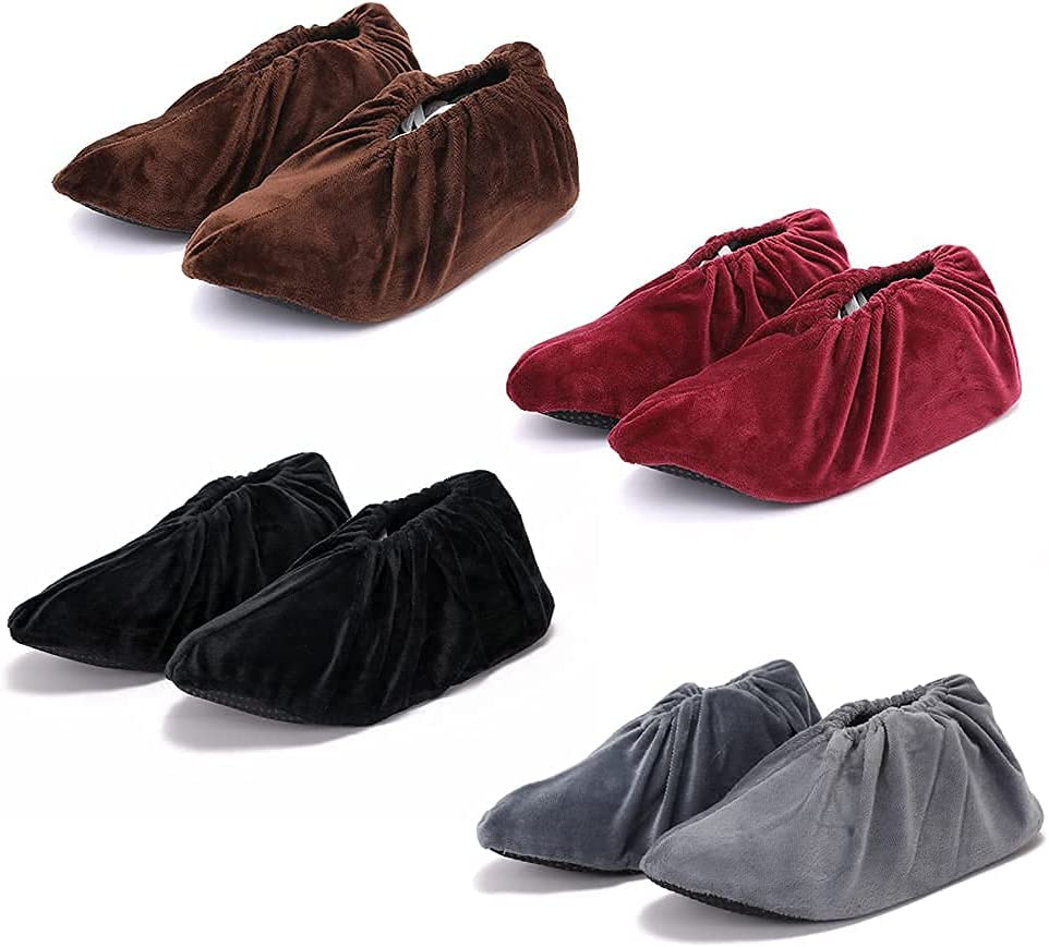 JSAHAH 4 Pairs Reusable Shoe Over item handling Max 45% OFF Cover Non-Slip Washable Boots