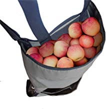 Garden Fruit Picking Apron - Large Fruit Picking Bag Heavy Duty Oxford Cloth Kitchen Harvest - Green Storage Pockets for Fruits Vegetables with Adjustable Size