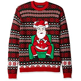 Blizzard Bay Men's Ugly Christmas Sweater Santa 8 Festive and humorous patterns that are perfect for the holiday season Made with a soft knit for a comfortable and easy fit Works great with jeans
