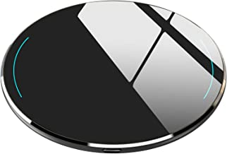 TOZO W1 Wireless Charger Ultra Thin Aviation Aluminum Fast Charging Pad - NO AC Adapter Black
