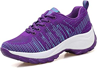 Veveca Women Breathable Air Lightweight Non Slip Sport Athletic Wedge Paltform Sneakers Running Shoes