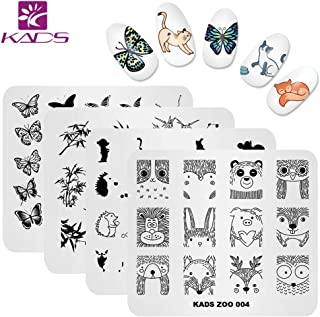 KADS Nail Art Stamp Plate Cute Animal Series Nail stamping plate Template Image Plate Nail Art DIY Decoration Tool Butterfly Dog Fox