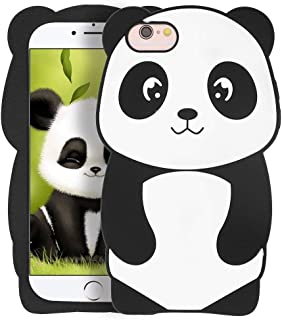 YONOCOSTA iPhone 6 Cute Case, iPhone 6S Case, Funny 3D Cartoon Animals Panda Shaped Soft Silicone Full Protection Shockproof Protective Case Cover for iPhone 6 / 6S (4.7
