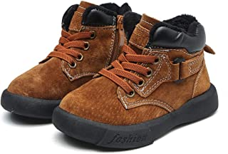 SandQ baby Boys Red Brown Leather Boots