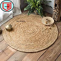 CONSTRUCTION-Individually hand braided by rug crafters using finest quality 100% Jute Can Be Use Indoor and Outdoor Both.You Can Use It As Carpet Inside The House, for Landscaping Garden, for Decorating Balcony CARE TIPS- Bright enough to hide the di...