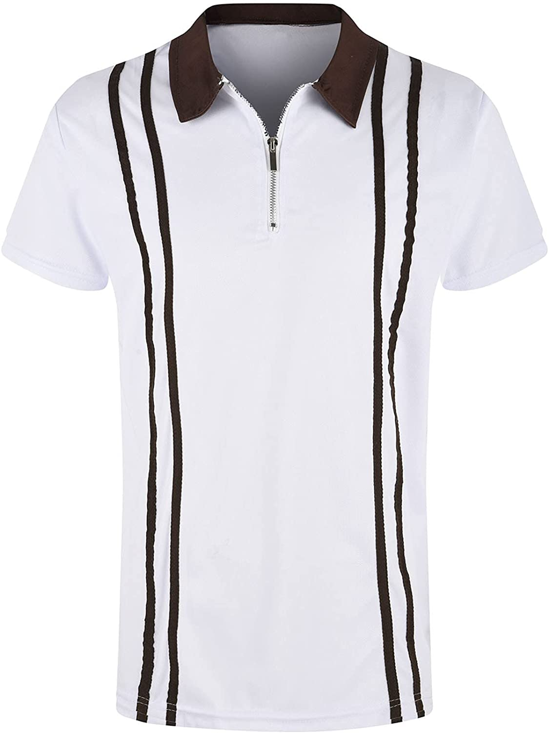 Tpingfe Men's Polo Shirt Lapel Tank Sleeve Short H Adult Chicago Mall Tee Top Ranking TOP2