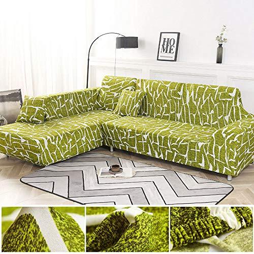 Juego de Fundas geométricas para sofás, Fundas para sofás, Fundas elásticas para sofás para Sala de Estar, aptas para esquinero Chaise Longue, sofá A1 de 4 plazas