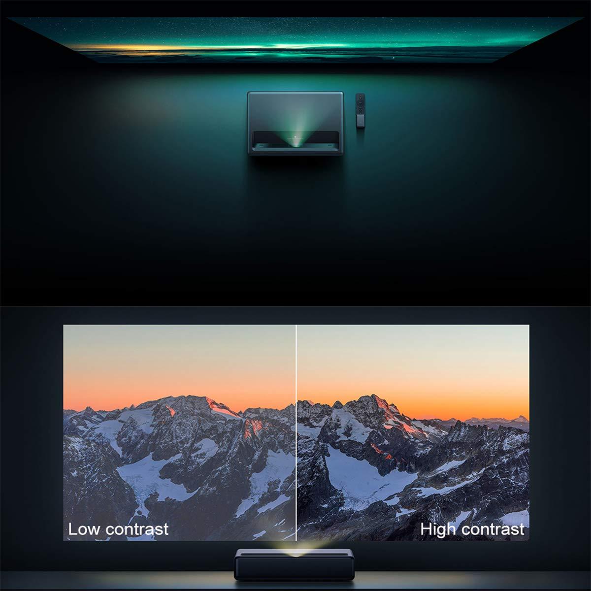 APPLL 1080P DLP Inicio Proyector De Cine, Ultra Short Throw, 5000 Lúmenes, 3000: 1 Relación De Contraste con 2 X 10 W Altavoces, HDMI, Negro: Amazon.es: Deportes y aire libre