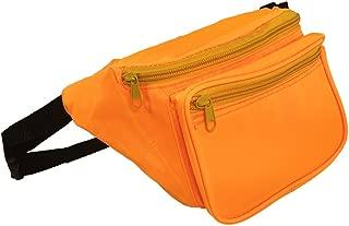 Vibrant Fannie Bag is Black Light UV Reactive and Glows (Orange)